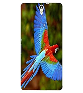 ColourCraft Beautiful Parrot Design Back Case Cover for SONY XPERIA C5 ULTRA