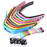 XCSOURCE® 10PCS Silicone Replacement Wrist Band Strap w/ Clasp for Garmin Vivofit Bracelet Wrist Tracker (Size: S: 4.7 - 6.9 inches) TH096