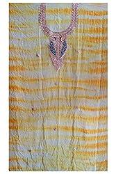 Yellow Color Gotta Patti Necklace Work Kurti Dress Material