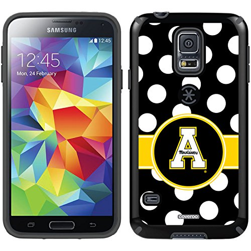 Appalachian State Polka Dots Design On A Black Samsung Galaxy S5 Candyshell Case By Speck