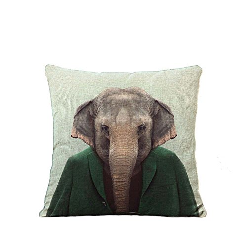 YOUR SMILE Cartoon Cotton Linen Square Decorative Throw Pillow Case Cushion Cover 18x18 Inch(44CM*44CM) (Color#8) (Mr Kelly Car Wash compare prices)