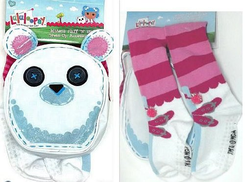Lalaloopsy Mittens Fluff n Stuff Dress-Up Set Socks and Purse