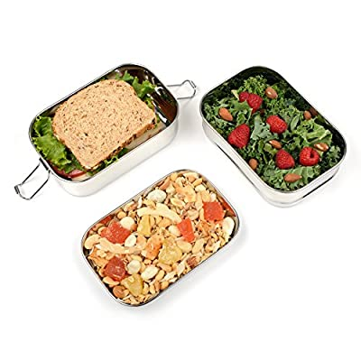 Bare Ware Eco-Friendly Double Layer Stainless Steel Lunch Box Food Container with Tray