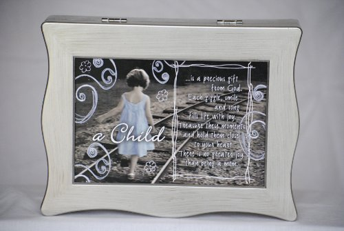 A Baby/Child Is A Precious Gift- Capture The Sounds Of Your Baby/Child Forever Recordable Memory Keepsake Giggle Box (Silver) front-155189