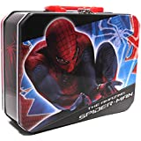 1 X Lunch Box - Marvel - Spiderman - Metal Tin Case w/Plastic Handle & Clasp