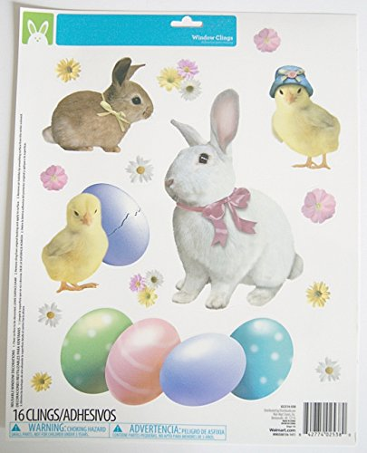 Easter Window Clings - Bunnies and Eggs (Easter Bunny Bulletin Board compare prices)