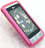 EMARTBUY LG KP500 COOKIE SILICON GEL SKIN COVER/CASE FUSCHIA PINK