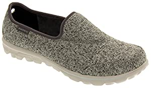 Skechers GOwalk Stitch Womens Grey Lightweight Memory Foam Sneakers 7.5 B(M) US
