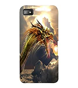 ColourCraft Fire Breathing Dragon Design Back Case Cover for BLACKBERRY Z10