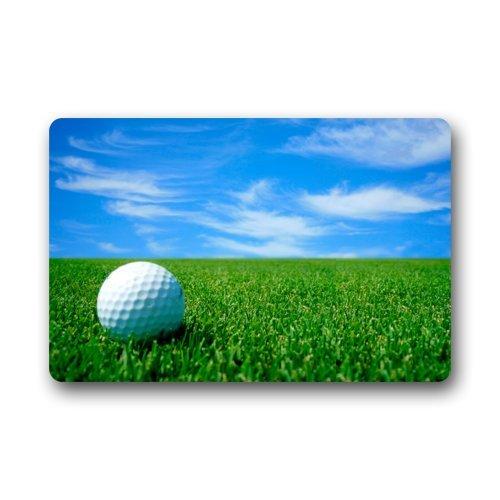 Door Mat White Golf Ball On The Golf Course Blue Sky Doormat Rug  Indoor/Outdoor