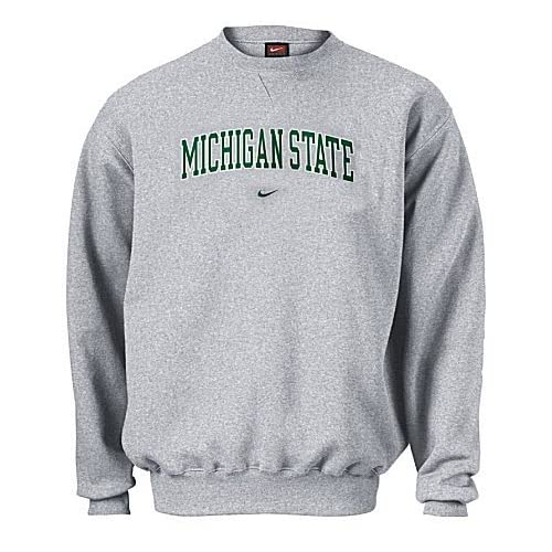 Michigan State Spartans College Embroidered Crewneck Sweatshirt By