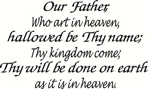 Matthew 6:9-13 Two Piece Set Wall Art, Our Father, Who Art in Heaven, Hallowed Be Thy Name, Thy Kingdom Come; Thy Will Be Done on Earth As It Is in Heaven, Give Us This Day Our Daily Bread, Forgive Us Our Trespasses As We Forgive Those Who Trespass Against Us, and Lead Us Not Into Temptation, but Deliver Us From Evil, Amen, Creation Vinyls (Daily Bread Bible Verses compare prices)