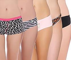 Pepperika Cotton Lycra Panties (Pack of 5)