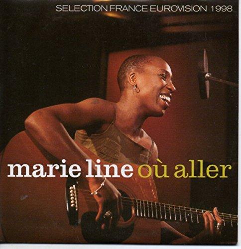 EUROVISION 1998 France : MARIE LINE - Ou Aller 2-track CARD SLEEVE - 1) Où aller 2) Où aller (Instrumental) - CDSINGLE