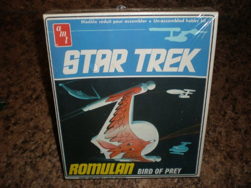 1975 Vintage Star Trek Amt Model Kit of The Romulan Bird Of Prey