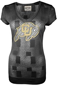 Buy NCAA Colorado Buffaloes Ladies Championship Tunic Tee, Black by SECTION 101 Majestic