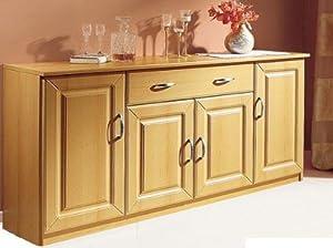501 deutsche herstellung sch ne anrichte kommode 4 t ren buche haushalt. Black Bedroom Furniture Sets. Home Design Ideas