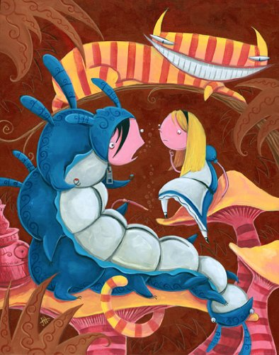 Justin Hillgrove Alice and the Caterpillar Wooden Jigsaw Puzzle