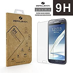 ZeroLemon Ultra Glass Armor - 9H Premium Tempered Glass Screen Protector for Samsung Galaxy Note 2 Protect your Screen from Drops and Scratches
