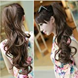 X&Y ANGEL Ladies Curly/Wavy Natural Long Wigs Hair Extensions Clip Claw Ponytail 10 Colors