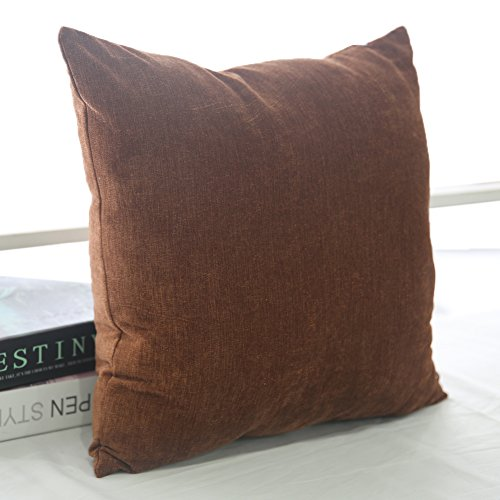 Brown Corduroy Throw Pillow : Deconovo Corduroy Soft Throw Cushion Case Pillow Cover With Invisible Zipper, 18x18-inch, Brown ...