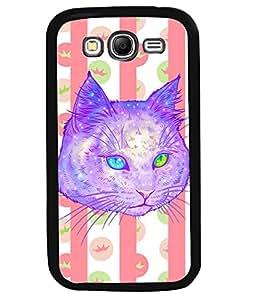 PrintVisa Metal Printed Cat Designer Back Case Cover for Samsung Galaxy Grand I9080-D5124