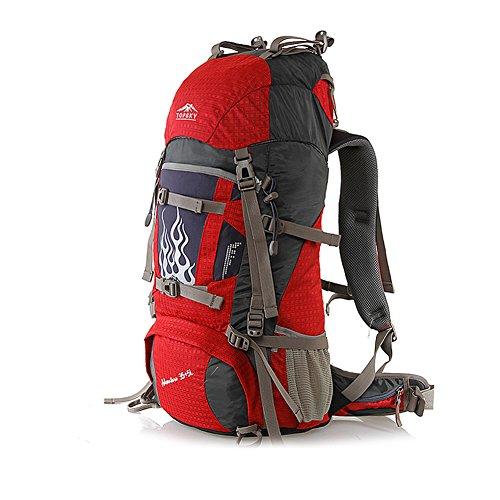 Sac d'escalade en plein air / sac à dos / sac à bandoulière en plein air de grande capacité-rouge 50L