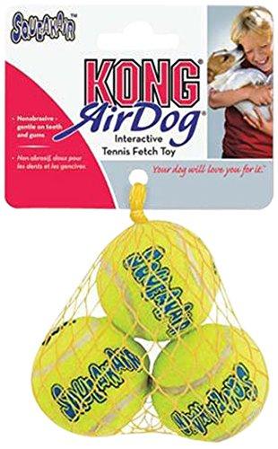 Kong Air Squeakair Balls, XS, Confezione da 3