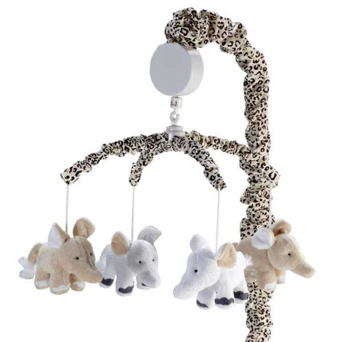 "Wendy Bellissimo ""Sweet Safari"" Musical Mobile - beige, one size - 1"