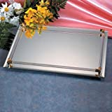 8X11 MIRROR VANITY TRAY - 8X11 MIRROR WITH GOLD PLATED ACCENTS VANITY TRAY - ...