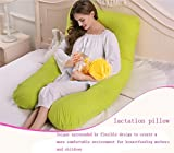 Balakie【Pregnant Women Pillow】Mom Cozy Total Body Pillow - Maternity / Pregnancy Pillow - Prenatal Postpartum Side Sleeper U-Shaped Pillow/Utero Pillow(Lemon Yellow)