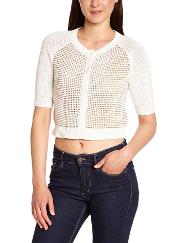 Kookaï - Giacca, colletto tondo, donna Bianco (Blanc (Blanc)) FR : 42 (Taille Fabricant : 3)- FR