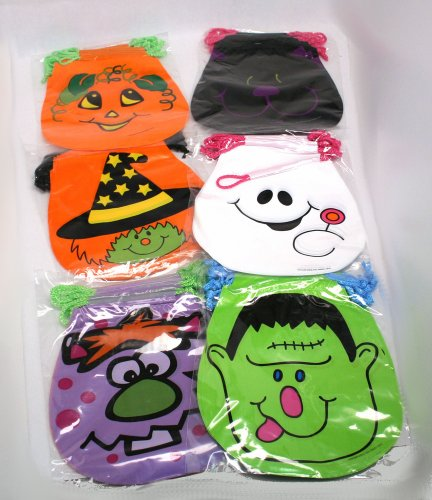 Drawstring Halloween Goody Bags : pack of 72