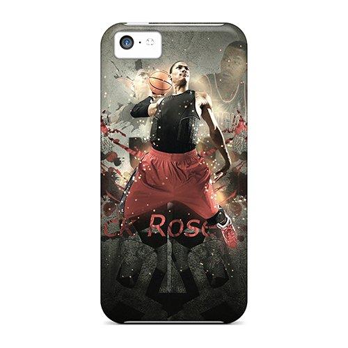 New Rzfuk1452 Derrick Rose Skin Case Cover Shatterproof Case For Iphone 5C