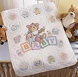 Bucilla Baby Blocks Crib Cover Stamped Cross Stitch Kit-34