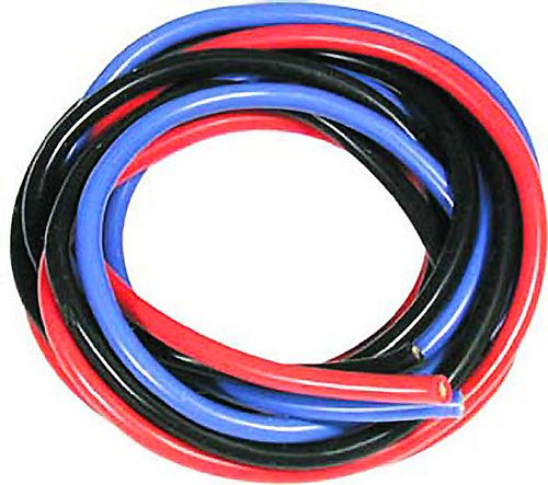 Muchmore Racing MRWS16 16 AWG Silver Wire Set, Blue/Black/Red, 180cm