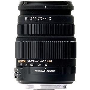 Sigma 50-200mm f4-5.6 DC OS HSM Lens for Nikon Digital SLR Cameras with APS C Sensors