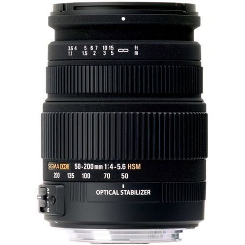 Sigma 50-200mm f4-5.6 DC OS HSM Lens for Nikon Digital SLR Cameras with APS C Sensors Black Friday & Cyber Monday 2014