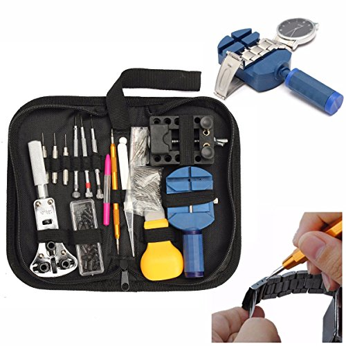 BABAN 144Pcs Watch Back Case Holder Opener Pin Link Remover Spring Bar Repair Tool Kit (Watch Link Remover Kit With Case compare prices)