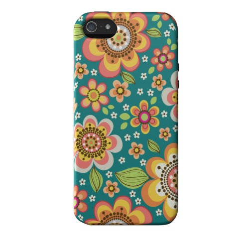 Great Sale Elibrium Style 365 Extra Durable Designer Case for iPhone 5, Floral Mix Green