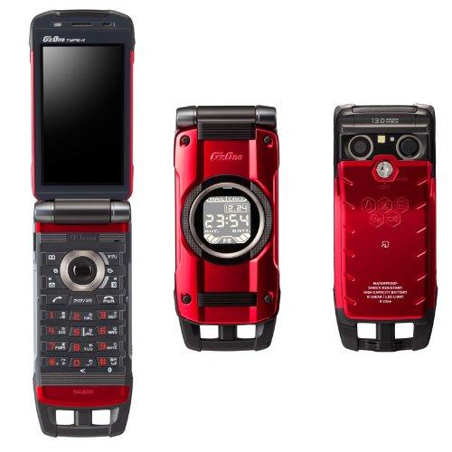 中古 G'zOne TYPE-X レッド 携帯電話 白ロム au