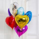 Generic Heart Red, 18inch : 10 Pcs/Lot10inch 18 Inch Wholesales Party Decoration Helium Inflable Heart Shaped...