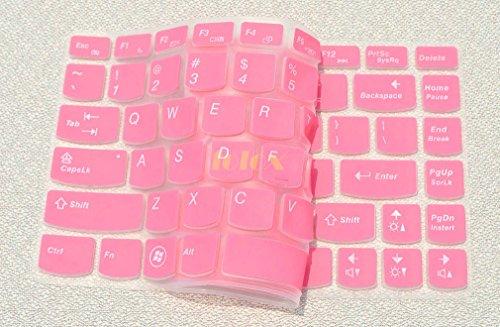 Folox Soft Silicone Keyboard Protector Cover Skin For Lenovo G360 G40 G400 G400S G405 G405S G410 G410St G470 G475 G480 G485 G490 M490 M495 S410P Sr1000 V370 V470 V480 V480C (Pink)