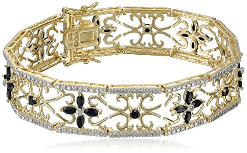 yellow-gold-plated-sterling-silver-sapphire-flower-bracelet-75