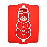 Chicago Metallic Silicone Snowman Cake Pan and Stencil