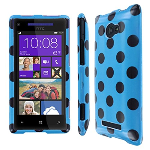 HTC 8X Case, Empire Full Coverage Teal and Brown Polka Dot Case for HTC Windows Phone 8X (Htc Windows 8x Case compare prices)