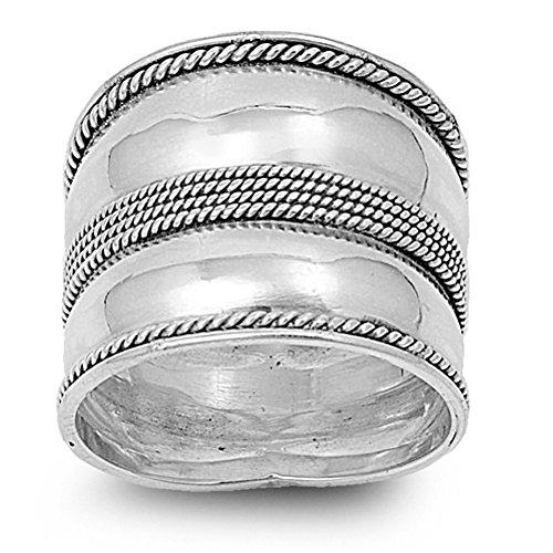 Sterling Silver Ring - Bali Design