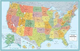 Rand Mcnally Us Wall Map (M Series U.S.A. Wall Maps) 50