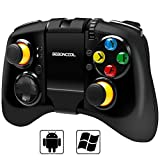 Samsung Gear VR Controller Gamepad, BEBONCOOL Bluetooth Game Controller Joypad Joystick with Clip for Android S6 Edge/ S7 Edge/Note 7/Tablet/TV Box/Emulator/Oculus; Wired Gamepad for Windows PC/Steam