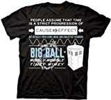 Dr Who Wibbly Wobbly Quote Mens T-shirt, Black, X-Large